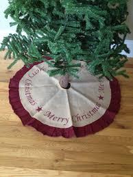 burlap tree skirt country primitive burlap tree skirt merry christmas 36