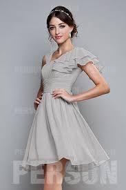 robe grise pour mariage robe demoiselle d honneur grise argentée robespourmariage