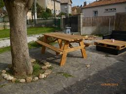 Build A Picnic Table Out Of Pallets by Diy Pallet Picnic Table
