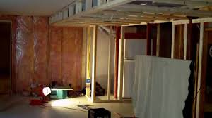 How To Frame A Wall by How To Build A Finished Basement With Ceiling Soffit Great Ideas