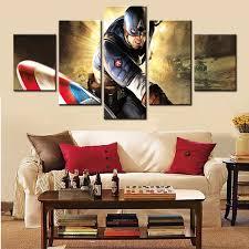 aliexpress com buy 5 panel wall art canvas painting super hero