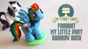 my pony cupcake toppers rainbow dash cake topper