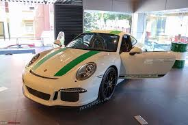 porsche brewster green porsche 911r in india team bhp