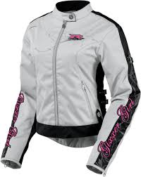 street bike jackets icon hella gixxer womens textile jacket gray