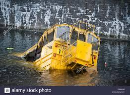 amphibious rescue vehicle yellow duckmarine amphibious tourist vehicle sinks at albert dock