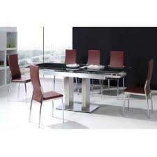 steel top dining table glass stainless steel top dining table at rs 16700 piece