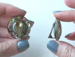 how to convert clip on earrings to pierced vintage advantage how to turn clip earrings into post earrings