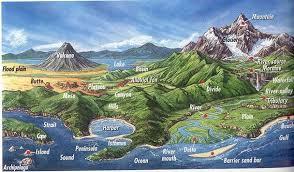 map us landforms united states regions lessons tes teach
