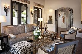 animal print living room mediterranean with symmetry traditional