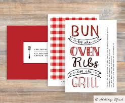 unique gender reveal party invitations with bbq theme