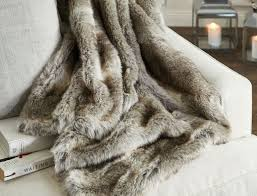 Oversized Faux Fur Throw Faux Fur Throw On Bed With White Linen In Townhouse Bedroom Bath