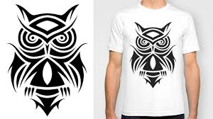 owl tattoos design designing a t shirt tribal owl tattoo design youtube