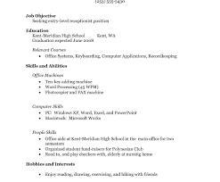 exle student resume internship resume format for freshers college student
