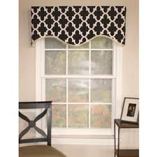 Black Curtains With Valance Buy Black Window Valances From Bed Bath U0026 Beyond