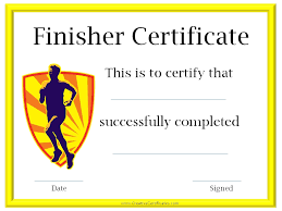 run certificates certificate for completing the c25k program