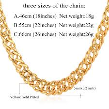 gold chain necklace wholesale images U7 male chain necklace trendy jewelry wholesale 5mm gold silver jpg