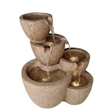 Outdoor Water Fountains With Lights Fountain Cellar Multi Pots Sandstone Outdoor Indoor Water Fountain