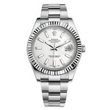 rolex white gold oyster bracelet images Rolex datejust ii white index dial fluted 18k white gold bezel jpg