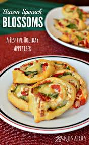 bacon spinach blossoms festive holiday appetizer