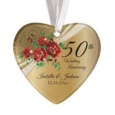 24 50th wedding anniversary acrylic ornaments zazzle ca