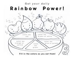 ideas collection fruit rainbow coloring sheets
