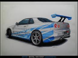 nissan skyline drawing artstation traditional car drawings maikel van hoof a k a