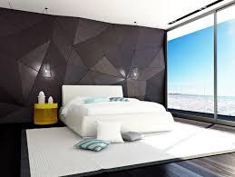 bedroom black prism wall white bedding frame duvet cover tosca