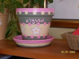 personalized flower pot 86 best flower pots images on crafts pots and gardening