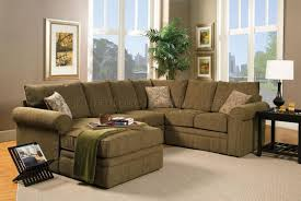 Chenille Sectional Sofa Contemporary Sectional Sofa And Ottoman Set In Chenille Fabric
