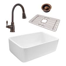 Pfister Faucets Kitchen Sinkology Bradstreet Reversible All In One Farmhouse Fireclay 30 5