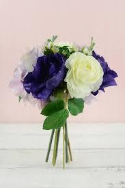 hydrangea bouquet purple silk hydrangea ranunculus anemone bouquet