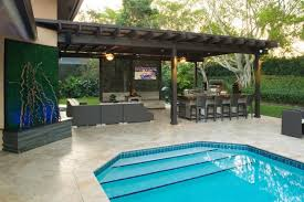 Pergolas In Miami by Outdoor Kitchen And Pergola Project In South Florida Traditional