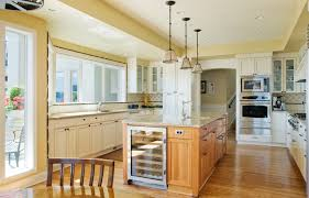 Country Kitchen Island Lighting U Line Wine Cooler Kitchen Traditional With Ceiling Lighting