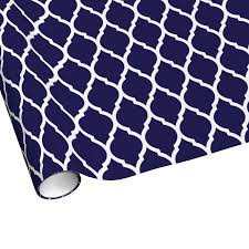 moroccan wrapping paper navy blue and white chic moroccan lattice gift wrapping paper