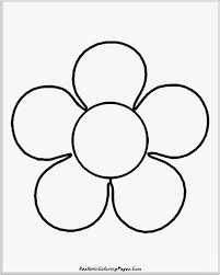 simple flower inside coloring pages draw easy flowers flowers