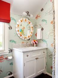 Wallpapered Bathrooms Ideas 159 Best Bathroom U003c3 Images On Pinterest Eclectic Bathroom Room