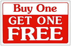 sale sign buy one get one free business sign store