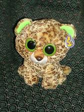 ty beanie boo buddy 9 plush turquoise leopard leona ty ebay