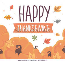 vector thanksgiving illustration pumpkins text happy stock vector