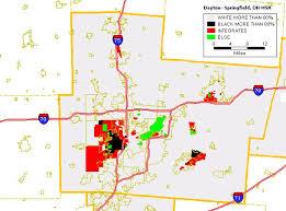 dayton map black white housing patterns in dayton