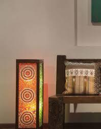 Mosaic Floor Lamp Mosaic Floor Lamp Wooden Frame Desert Designs