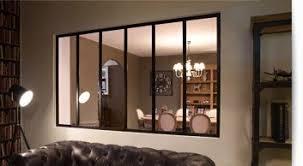 separation vitree cuisine salon verrière d intérieur cloison vitrée en acier verrière type loft
