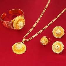 gold flowers necklace images Big size gold flowers 22k gold color african nigeria sudan kenya jpg