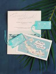 wedding invitations island seaside island destination wedding with blue white décor