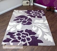 purpleand gray area rugs grey purple and cream modern new