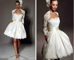 Knee Length Wedding Dresses China Short Bridal Wedding Evening Dress Lace Knee Length Bolero