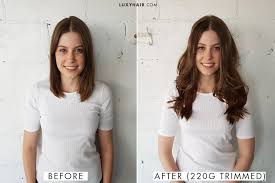hair extensions for short hair before and after how to choose the right thickness of luxy hair extensions