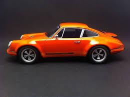 singer porsche red porsche 911 singer base 964 orange 2009 1 18 gt spirit zm049