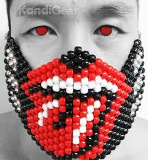 Kandi Mask Rolling Stones Tongue Kandi Mask By Kandigear On Deviantart