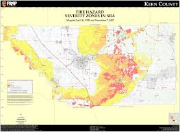 Los Angeles County Zoning Map by Fire Hazard Severity Zones Kern County California Map